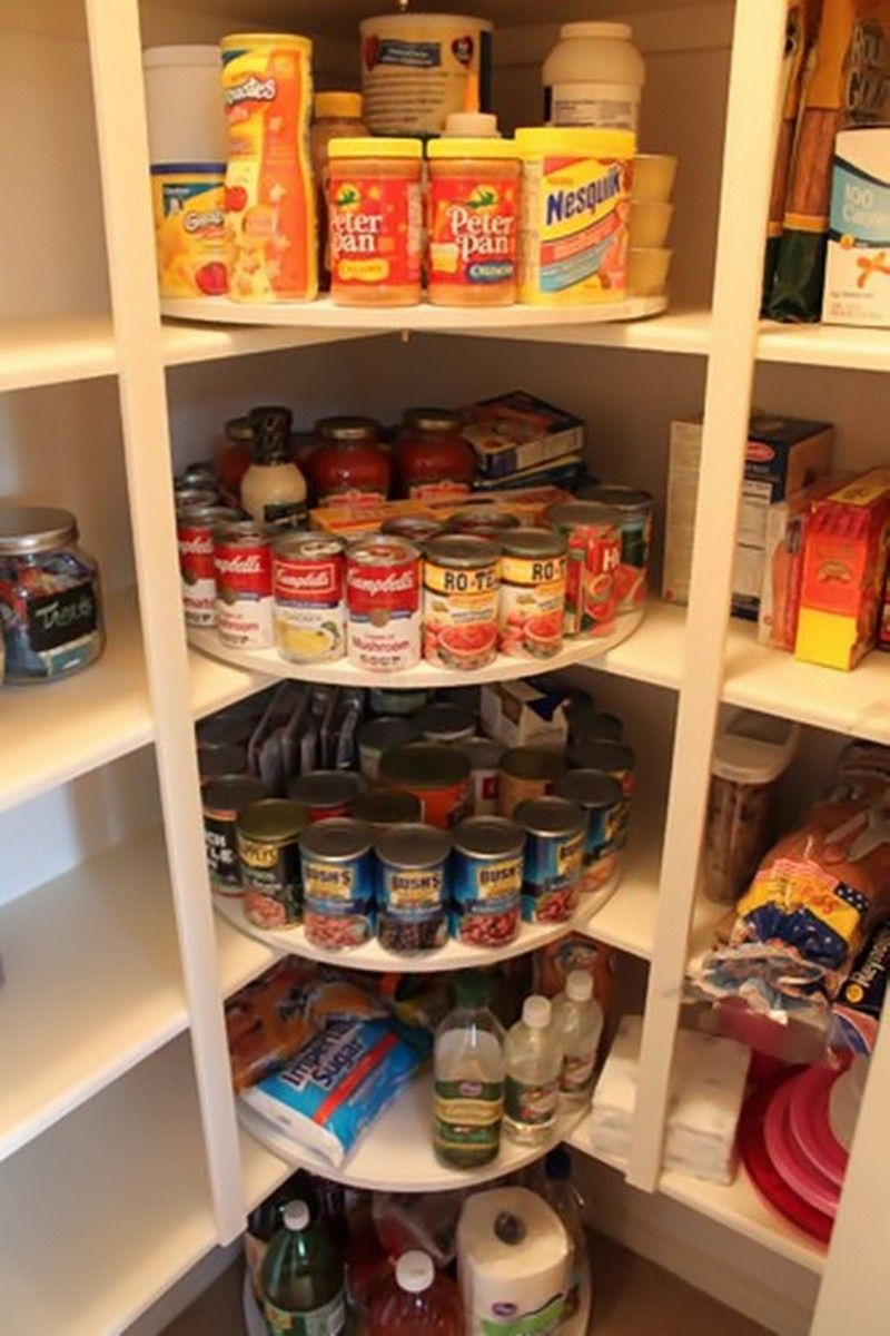 Great Lazy Susan Corner Shelves! Pantry Ideas | Inspiration@OBN