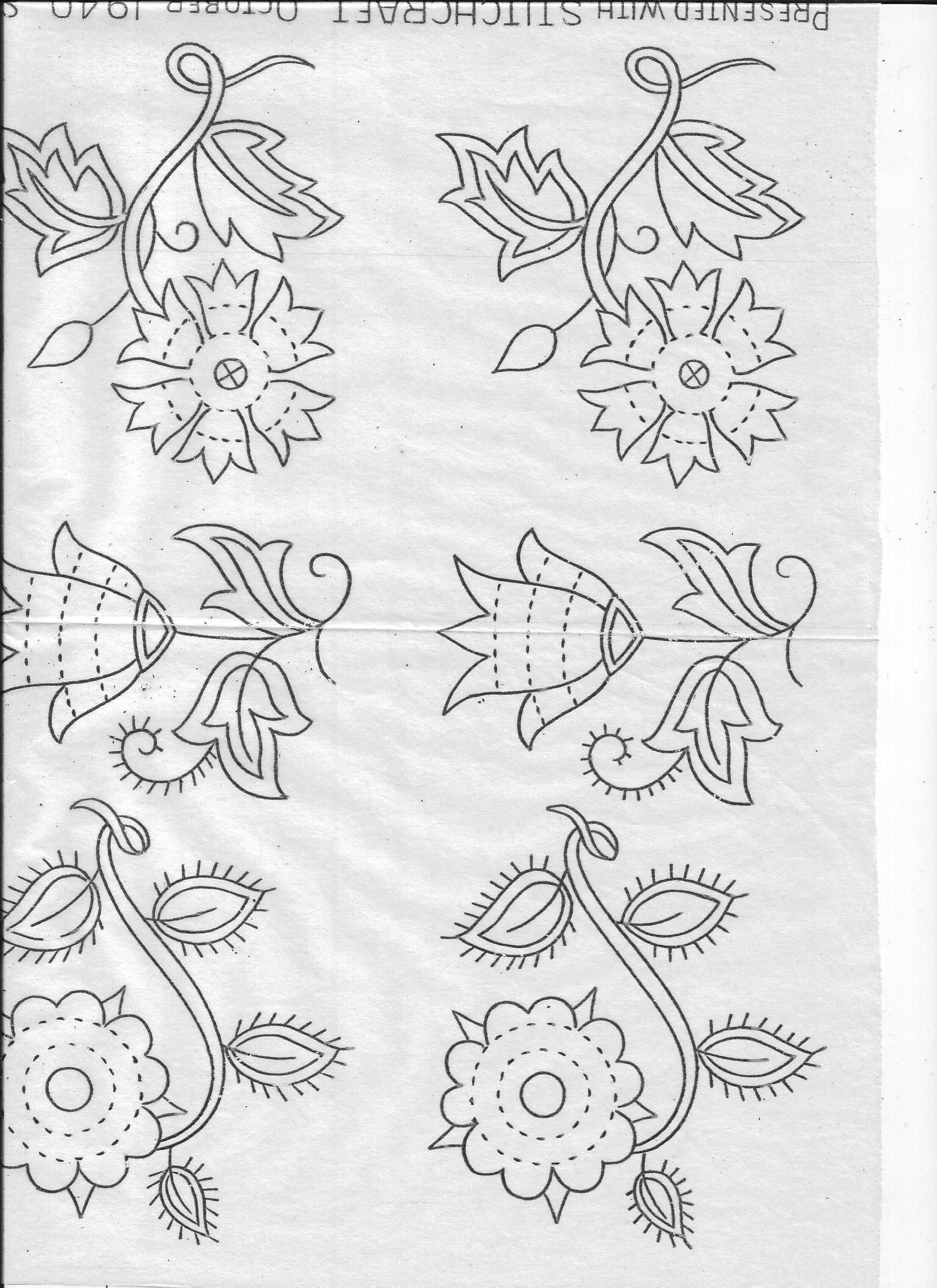 Stitchcraft oct flower patterns flower and patterns