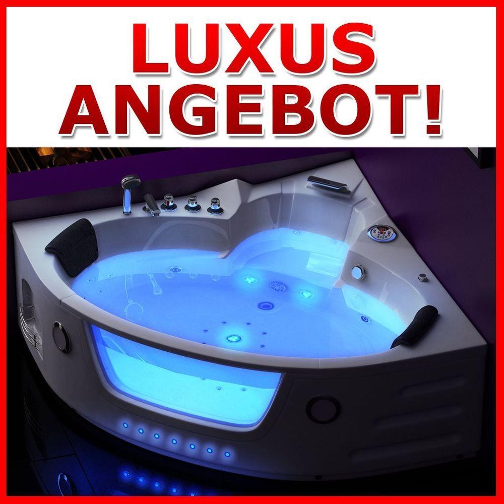 Elegant Luxus Whirlpool Badewanne Whirlwanne Madrid 140x140 Cm / Paris 152x152 Cm  Weiß