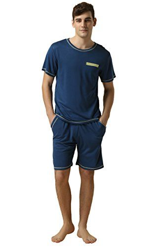 Suntasty Men's Summer Sleepwear Lounge Set Short Sleeve Pajamas ...