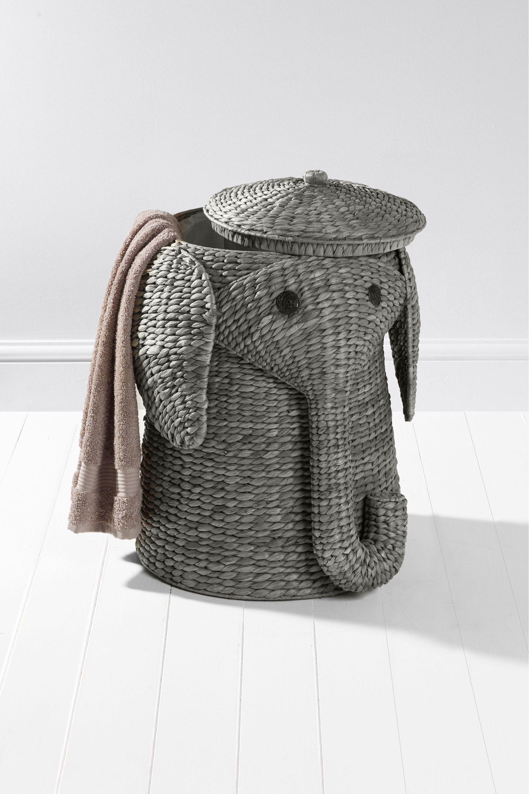 Elephant Laundry Basket In 2020 Elephant Bathroom Decor Laundry