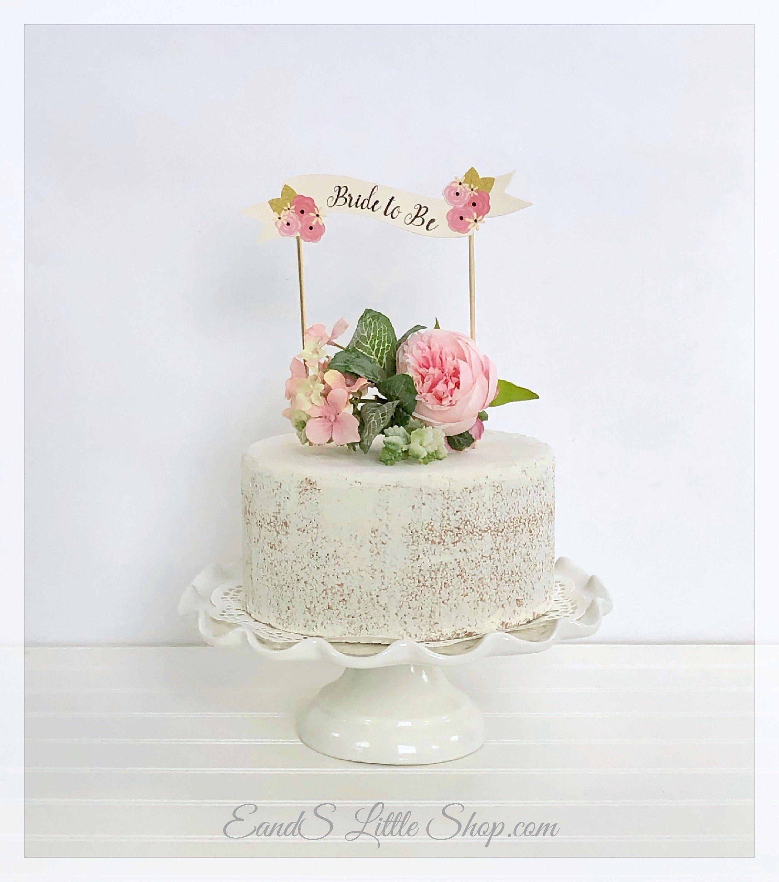 Bride To Be Cake Topper Wedding Cake Topper Bridal Cake Topper