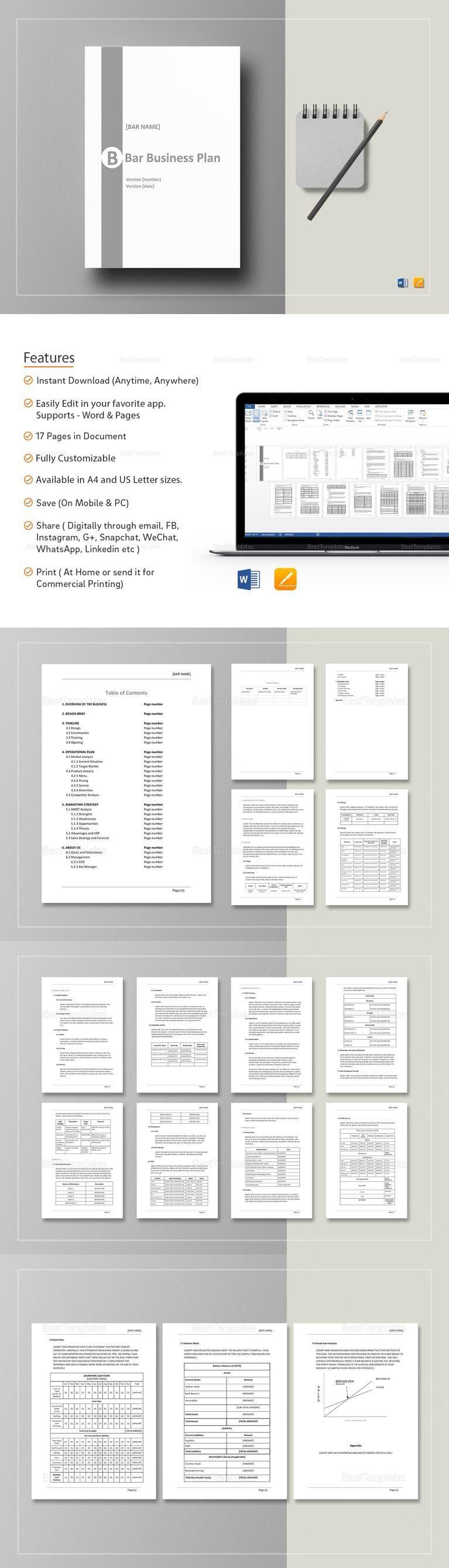 Bar Business Plan Template Business plan template