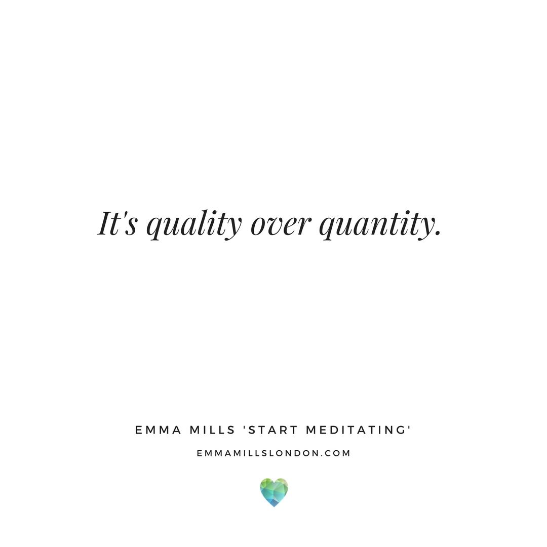 Meditation Asks For Quality Time Not Forced Quantities