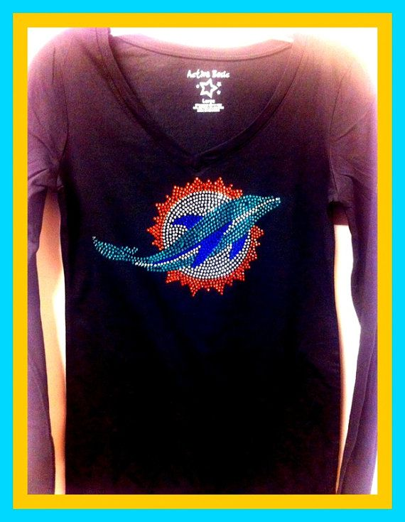 buy online f6d3a ca91f Miami Dolphins New Logo Bling Sparkle Jersey by ...