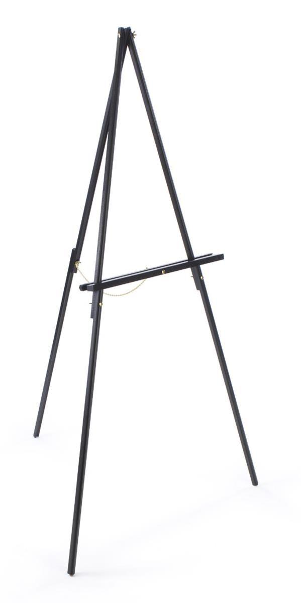 Wood Display Easel For Floor Standard Tripod Design 34 X 59 5 Black Wood Display Display Easel Art Easel