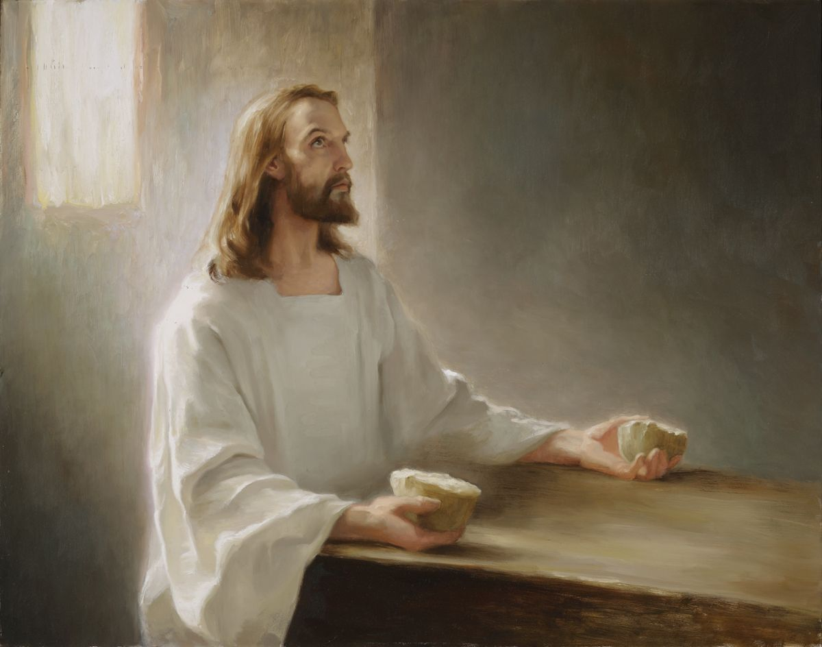 """bread Of Life"" Joseph Brickey. Jesus Christ"