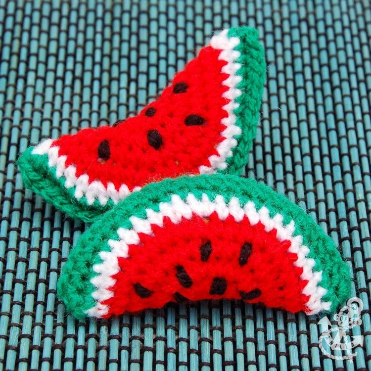 Watermelon Crochet Projects - DIY Coasters & Hair Bands