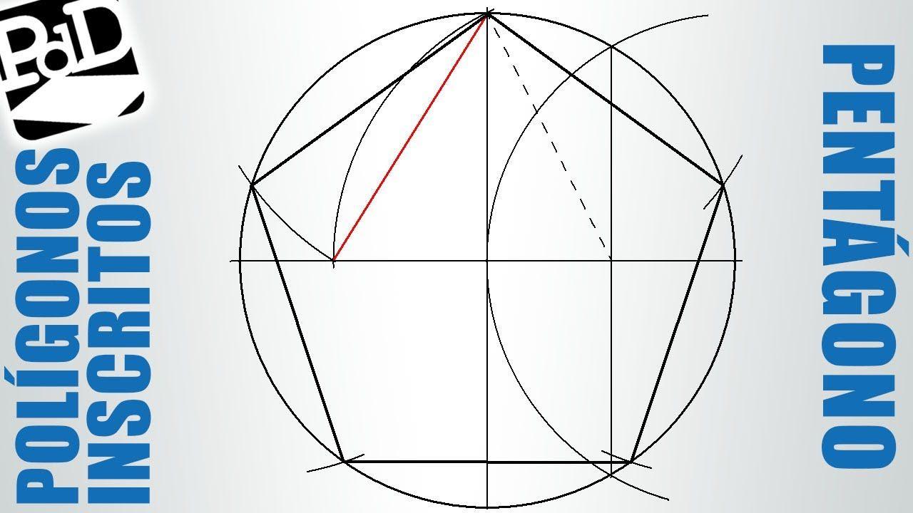 Pentágono Regular Inscrito En Una Circunferencia Polígono De 5 Lados Geometria Descritiva Poligonos Geometria
