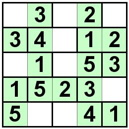 Number Logic Puzzles: 20032 - Bricks size 5