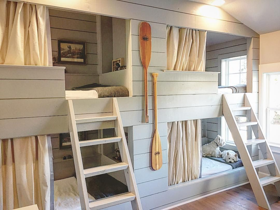 Pin by Heather Bug Lane on Built in bunk beds in 2019