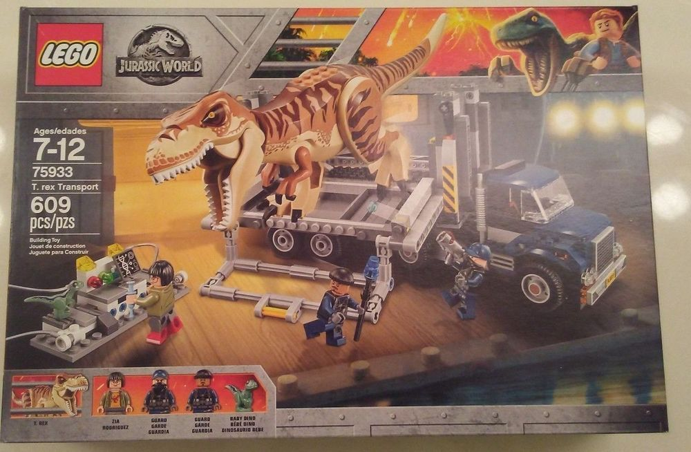 legoed Jurassic World 2 park 3 Sets Dinosaurs Toys T-Rex LEGO Blocks 2018 New