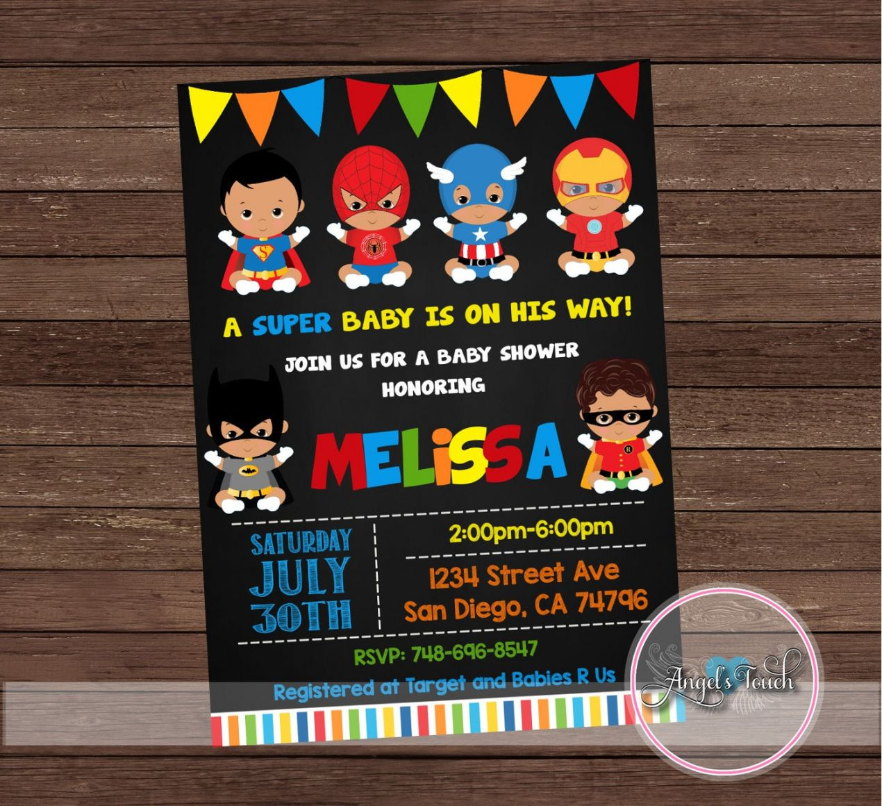 Best 2018 Create Free Superhero Baby Shower Invitation Templates