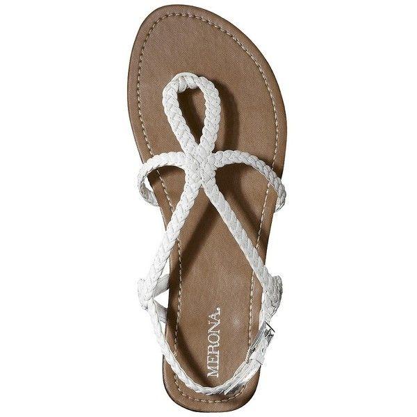 6a96238b58fb Women s Merona Emily Braided Strap Gladiator Sandal - White