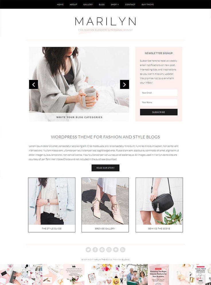 10 temas de WordPress para blogs de moda Tema de