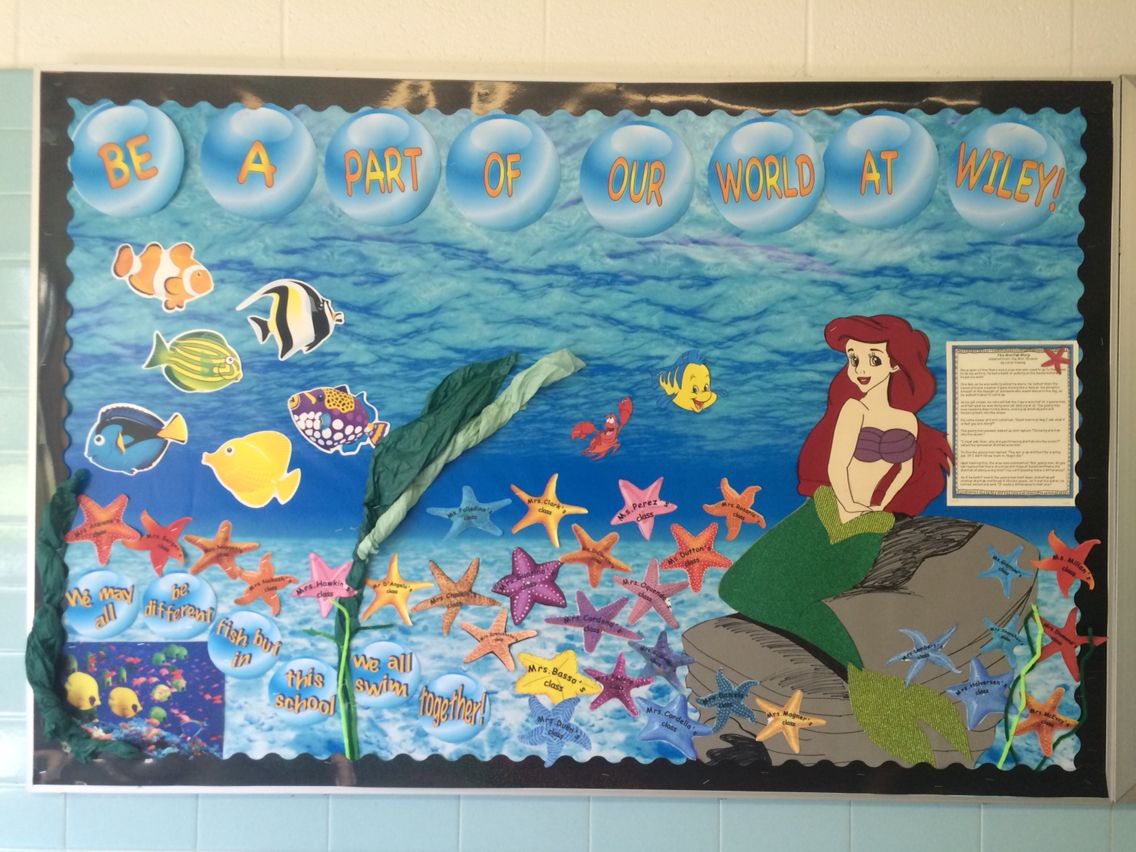 Classroom Door Decoration Ideas For Grade ~ We may be different fish but in this school all swim