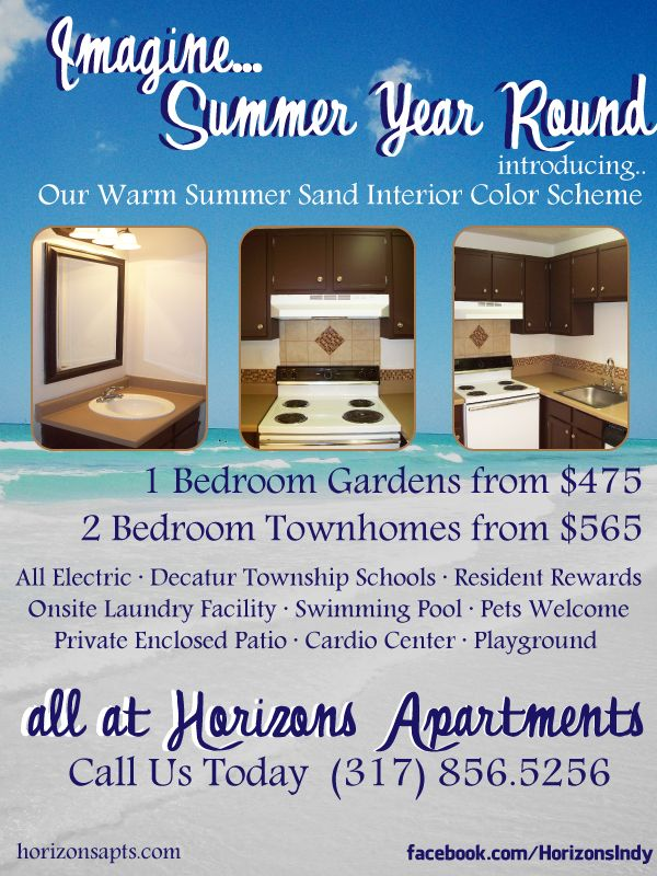 Advertisement for Horizons Apartments in Indianapolis, IN ...