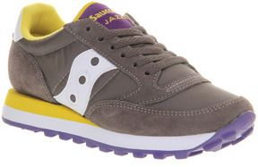 Saucony Womens Jazz Original Charcoal Yellow - Hers Trainers