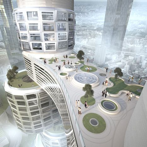 Velo Towers by Asymptote - Dezeen Good.