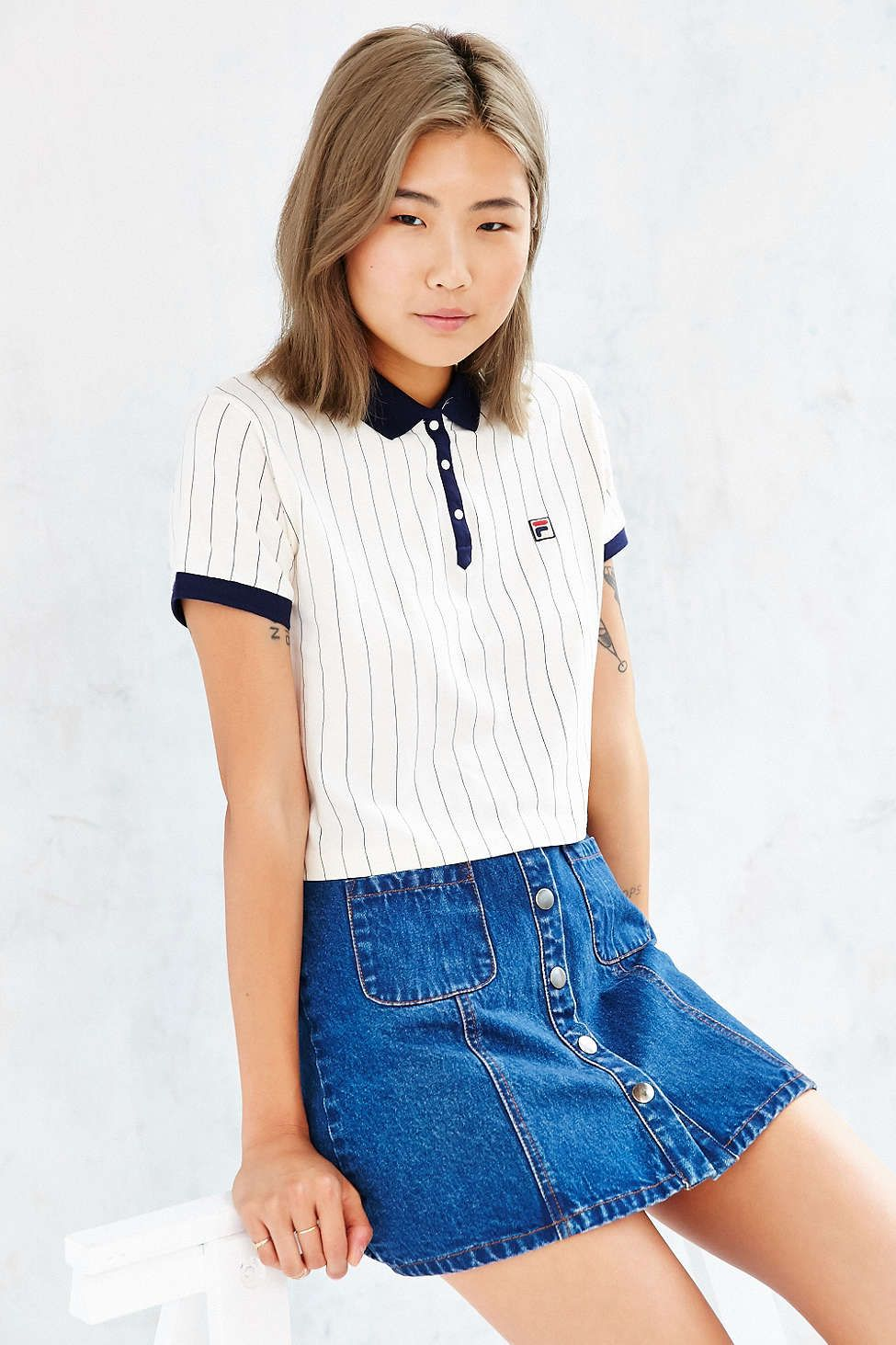 FILA + UO Polo Shirt | Good Sport | Polo shirt outfits, Polo ...