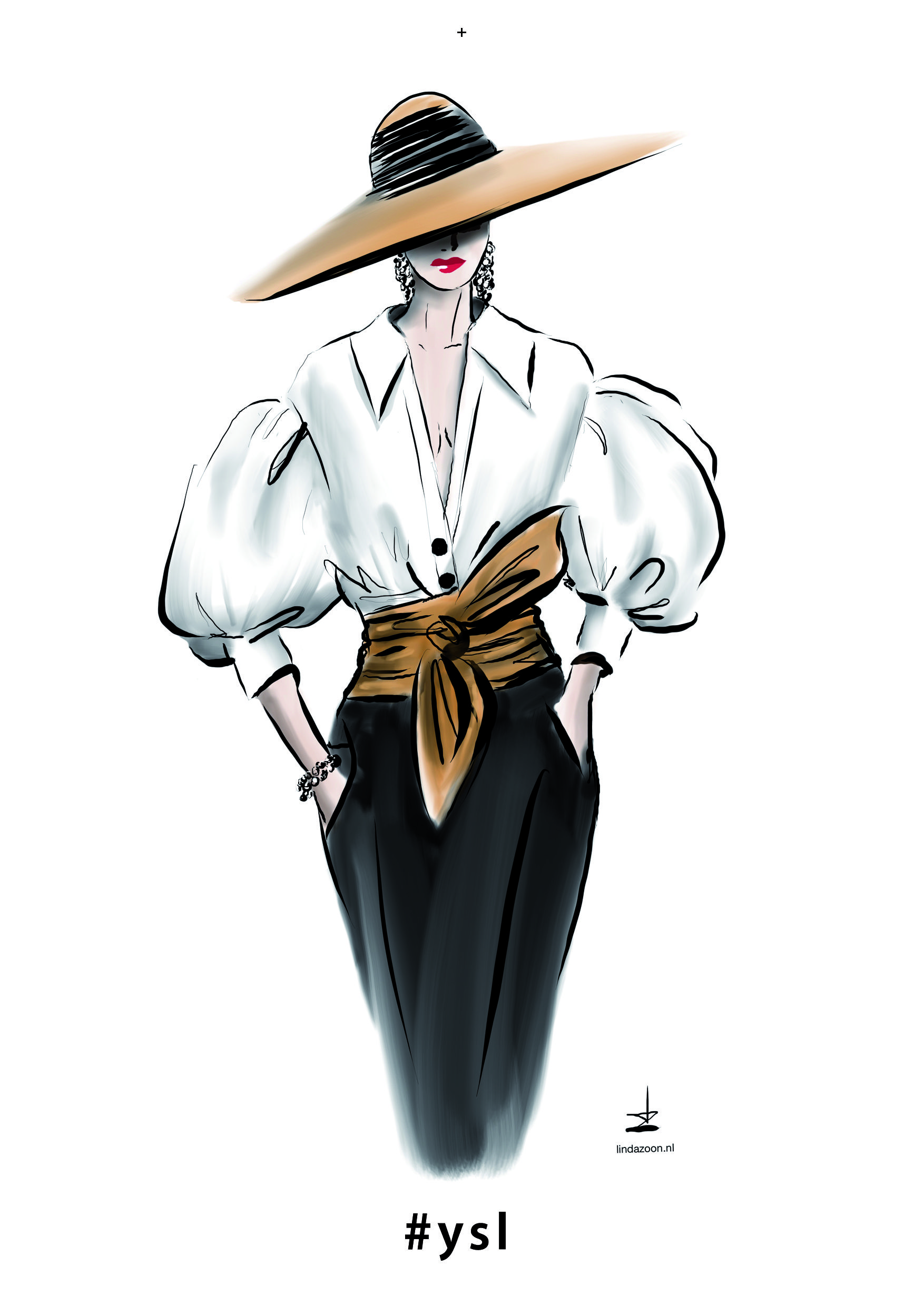 c14105988f4 Yves Saint Laurent  fashionillustration by  lindazoon - collection  YvesSaint  Laurent - 2001  YSL