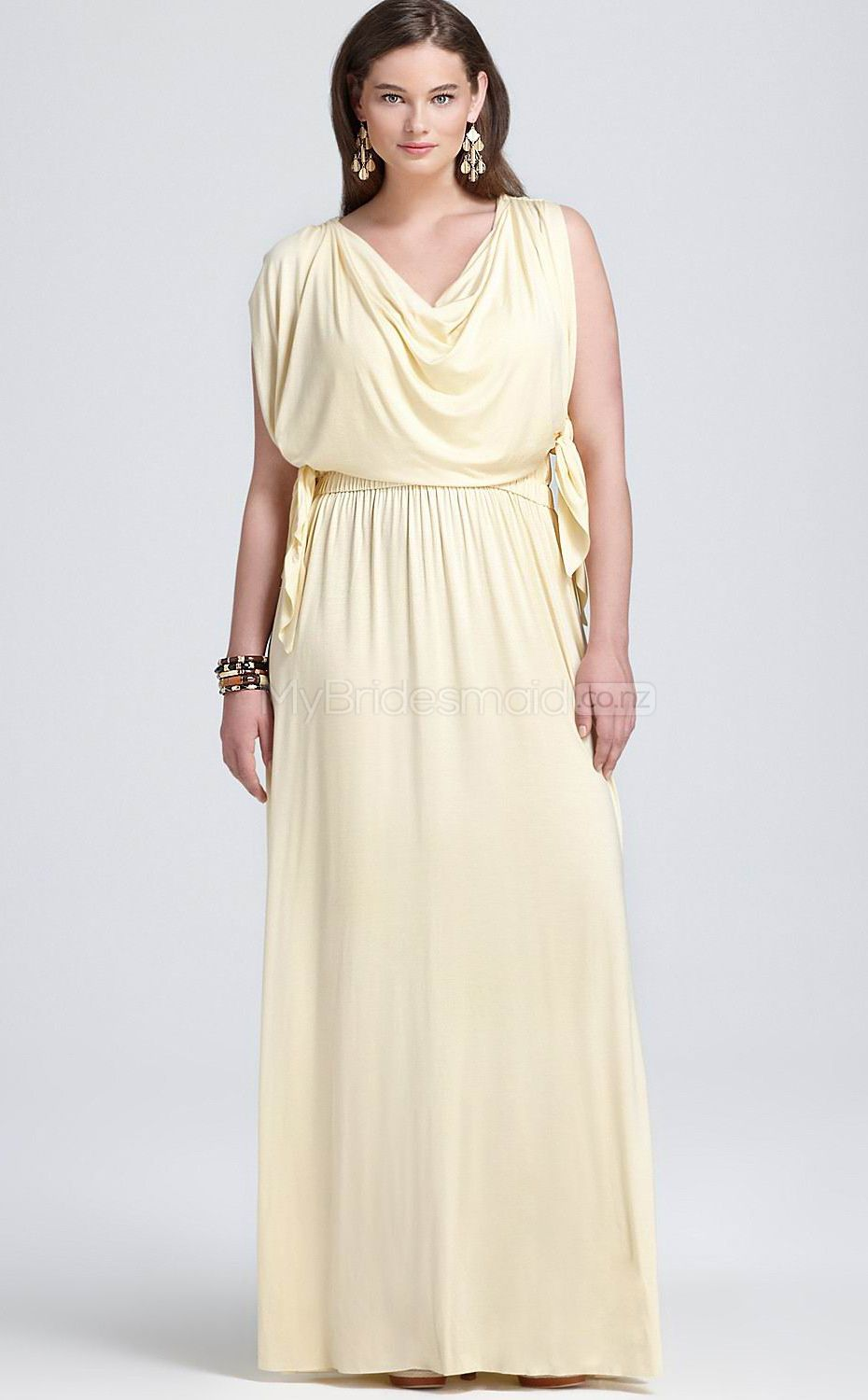 Chiffon a line v neck sleeveless ankle length plus size bridesmaid chiffon a line v neck sleeveless ankle length plus size bridesmaid dress ombrellifo Image collections