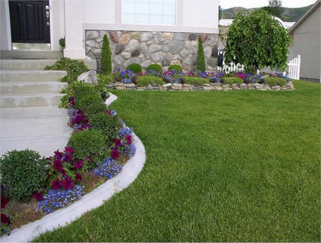 best 25 easy flower bed ideas to make front yard more on beautiful front yard rock n flowers garden landscaping ideas how to create it id=50920