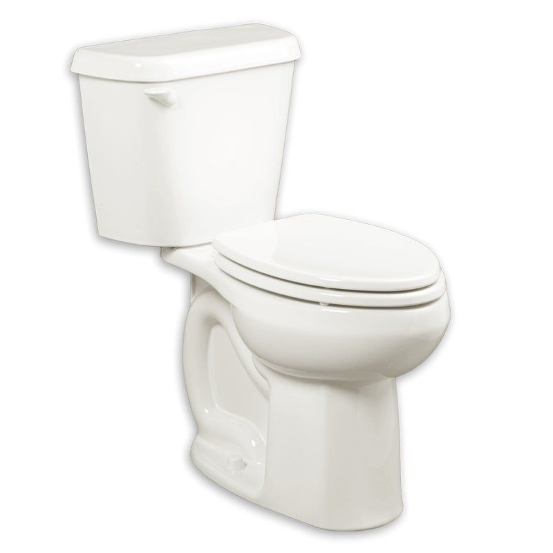 Colony 1 6 Gpf Elongated Two Piece Toilet Seat Not Included American Standard Elongated Toilet Seat Traditional Toilets