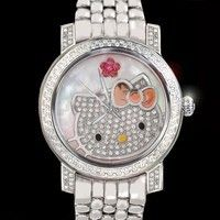 hello kitty watch diamond and mother of pearl...