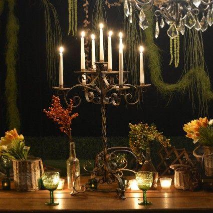 Rustic Baroque Candelabra - Table