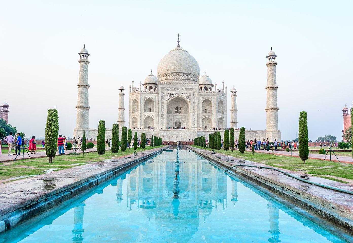 Fique encantado com uma maravilha do mundo Agra, Índia