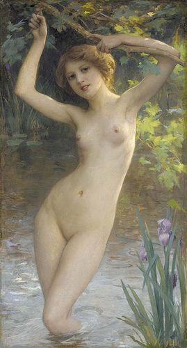 "Charles-Amable Lenoir (French, b. 1861), ""A morning swim"" 