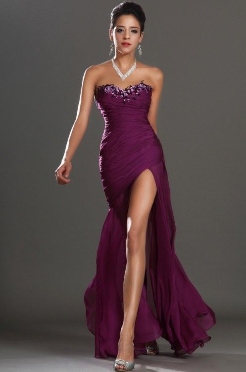 Modelos de vestidos para boda en la noche