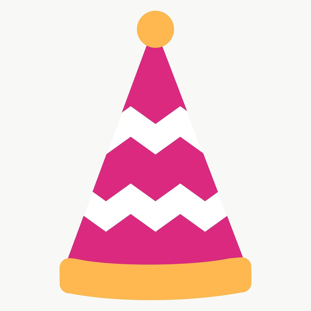 Pink Party Hat Design Element Transparent Png Free Image By Rawpixel Com Chayanit