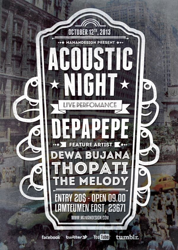 Acoustic Typography Flyer/Poster Vol2 on Behance Conference