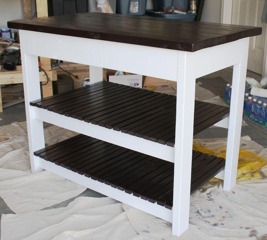 How to build a diy kitchen island diy kitchen island for How to build a simple bar