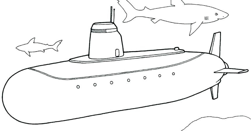 submarine coloring pages # 1