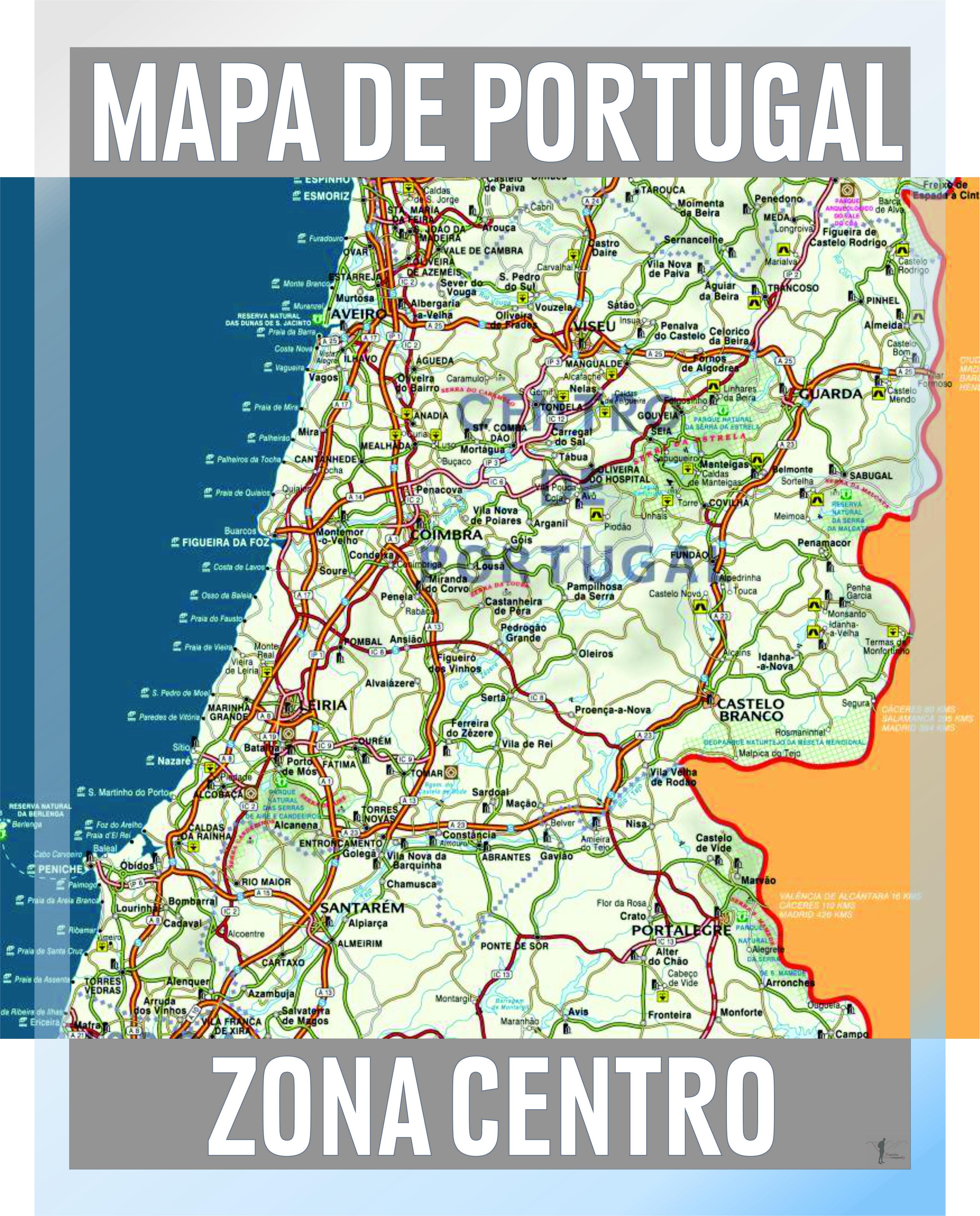 Mapa De Portugal Geografia E Turismo Das Regioes Turismo