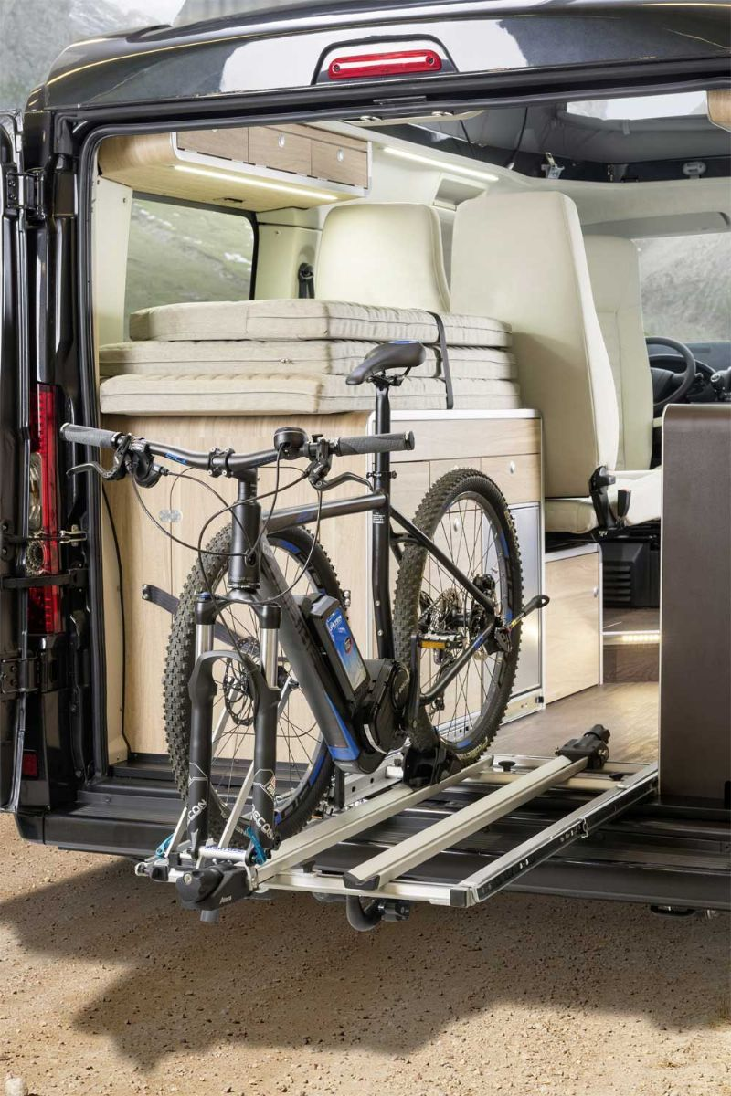 20 of the best camper vans with bike storage vans. Black Bedroom Furniture Sets. Home Design Ideas