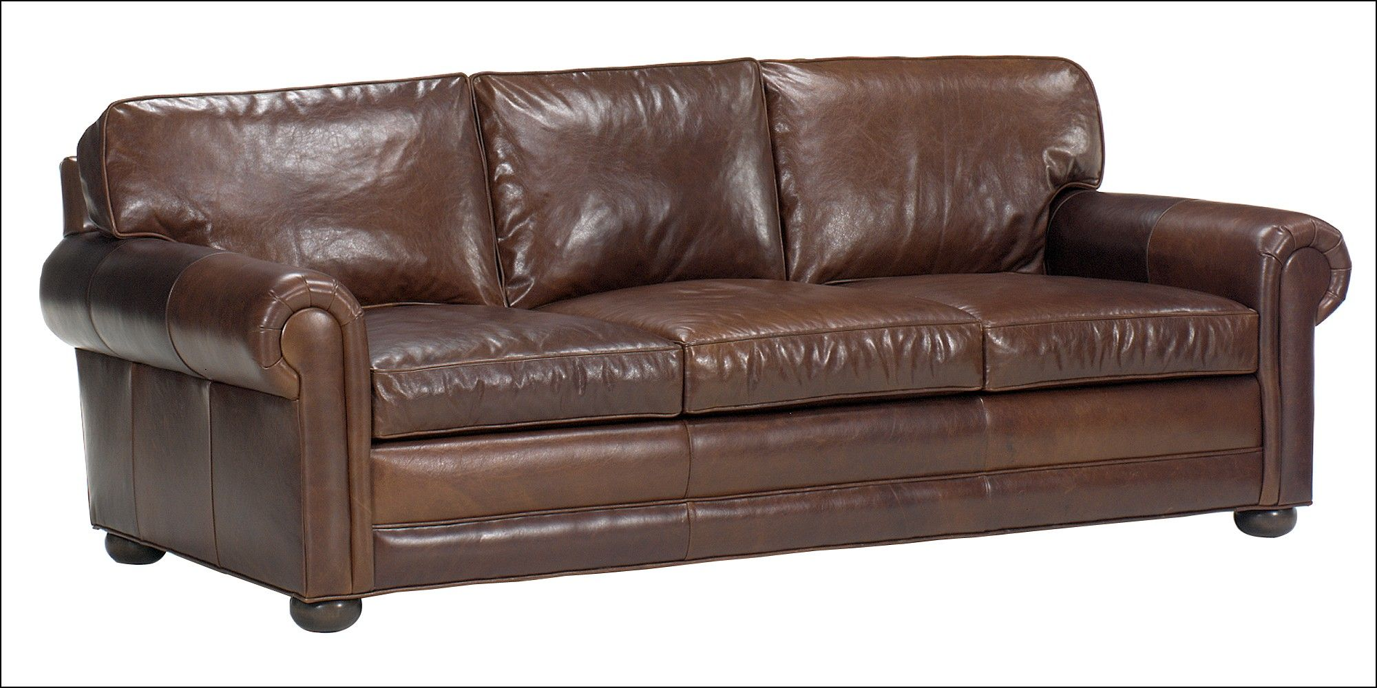 Charmant Deep Seat Leather Couch