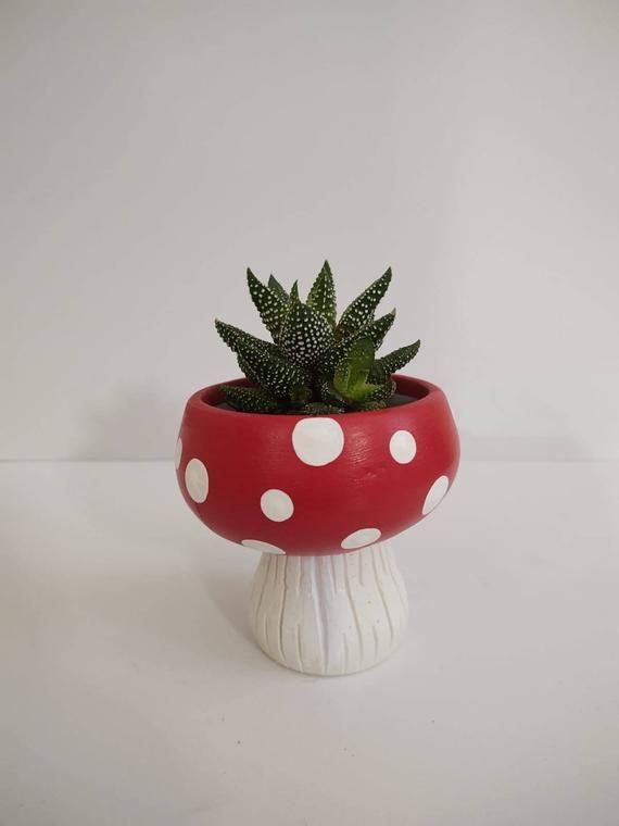 Mushroom Planter / Mushroom Pot / Succulent Pot /