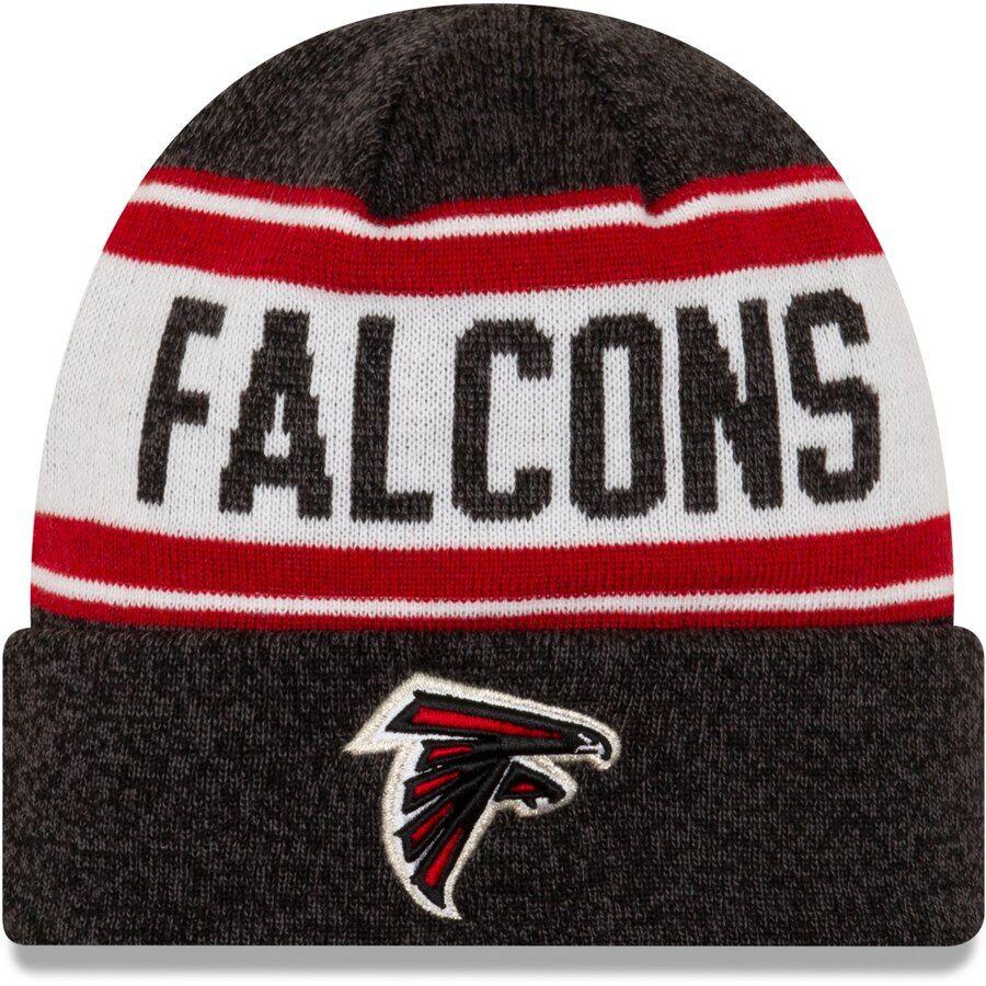 Men S Atlanta Falcons New Era Black Knit Stated Cuffed Knit Hat Atlanta Falcons Hoodie Atlanta Falcons Cap Atlanta Falcons