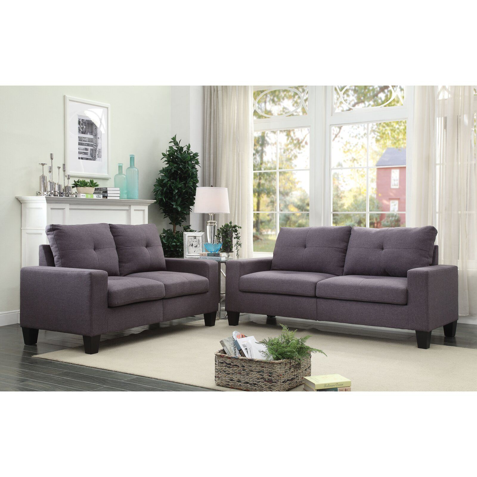 Offerman 2 Piece Living Room Set Loveseat Living Room Sofa And