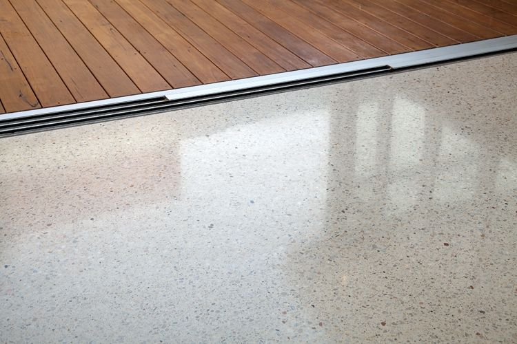Polished concrete colour amount of aggregate exposed for Exposed concrete floor
