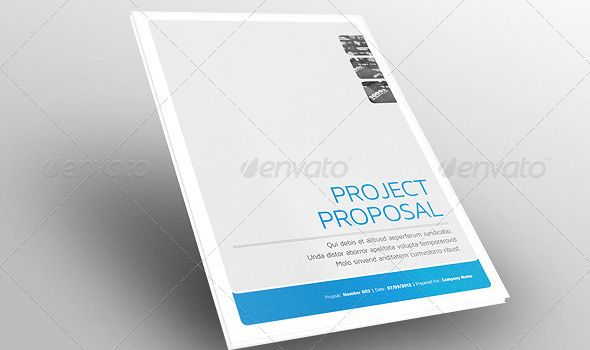 Elegant Design Proposal Web Design Proposal By Fahmie On At Creativemarket Fax Cover  Sheet Sample Resignation Letter Sample Thank You Letter . To Proposal Cover Page Design