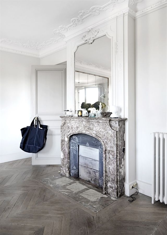 Paris Apartment In The Marais White Black Marble French By