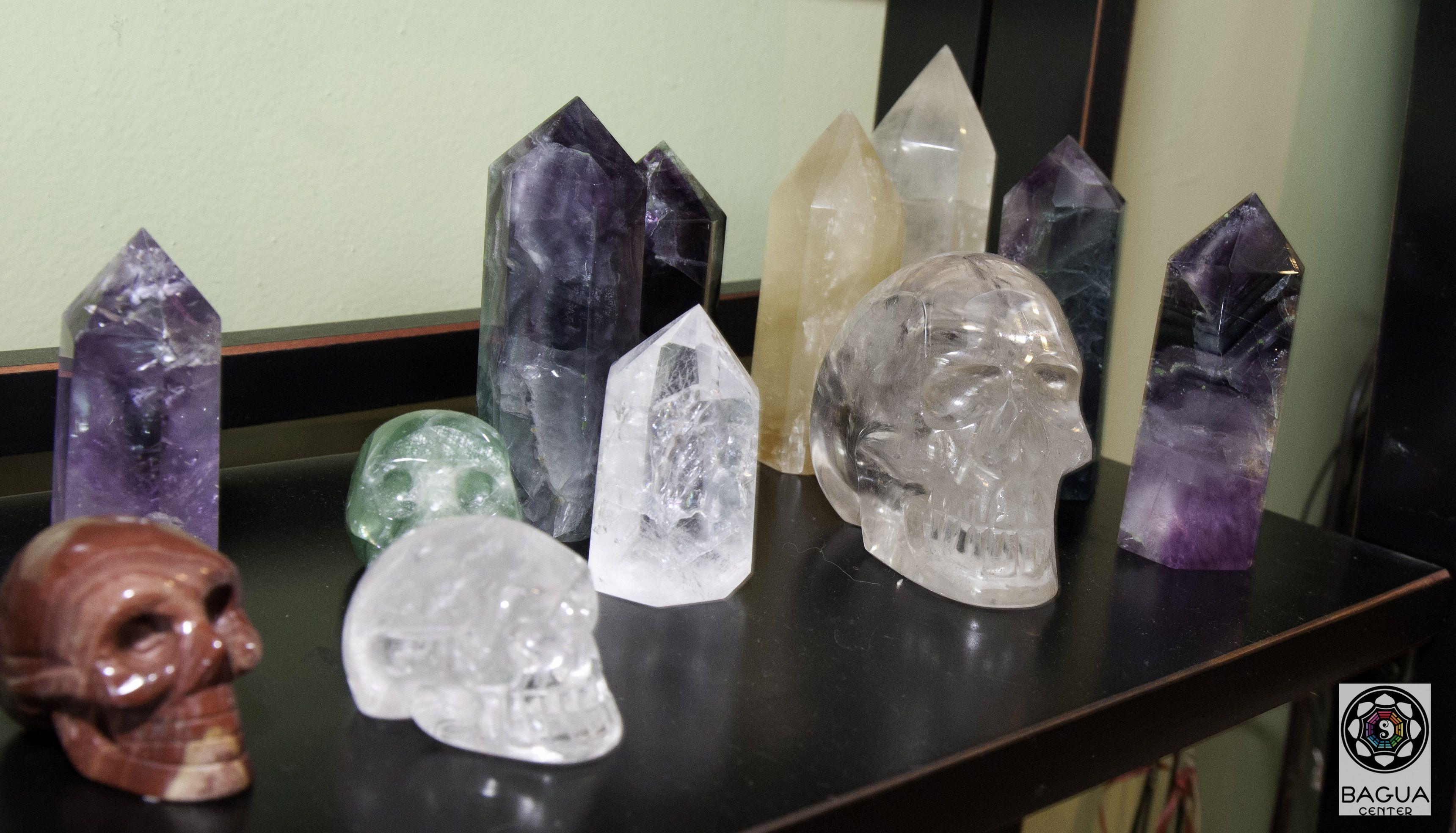 Crystals at Bagua Center