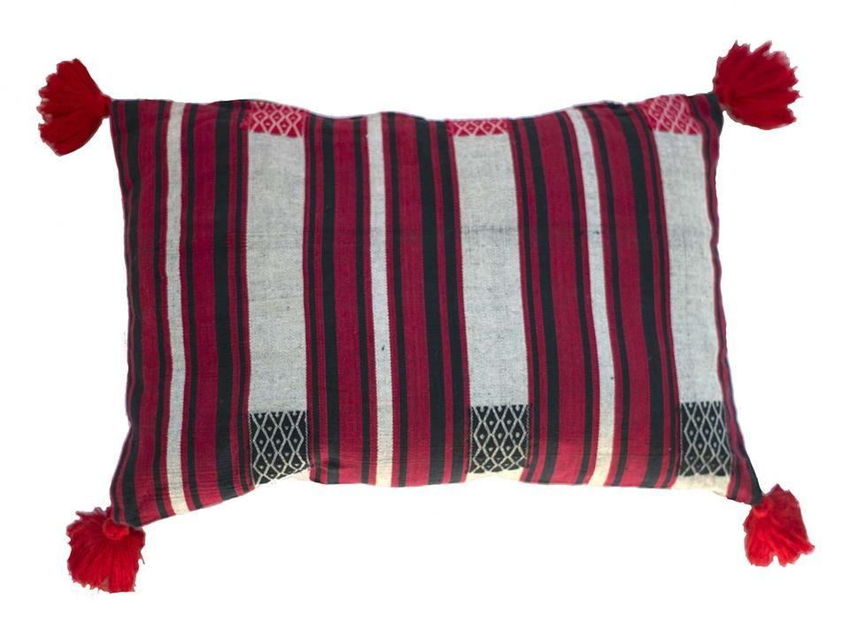 Handloomed cushion in traditional Naga design
