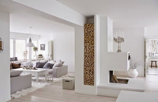 Ideas deco c mo decorar aprovechando pilares y columnas - Decoracion columnas salon ...