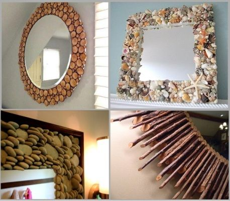 Diy Ideas From Natural Materials Buncee Communication Through Creation Home Decor Mirrors Diy Mirror Home Diy